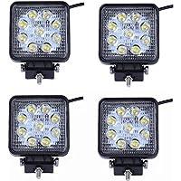 MCTECH 4 X 27W Quadrat LED Offroad Flutlicht Reflektor Scheinwerfer Arbeitslicht SUV, UTV, ATV Arbeitsscheinwerfer Zusatzscheinwerfer Offroad Scheinwerfer 12V 24V Rückfahrscheinwerfer