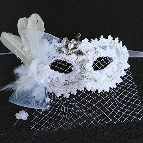 Damjic Nach Party Kostüm Party Prinzessin Maske Spitze Party Maske (Joker Weibliche Kostüme)