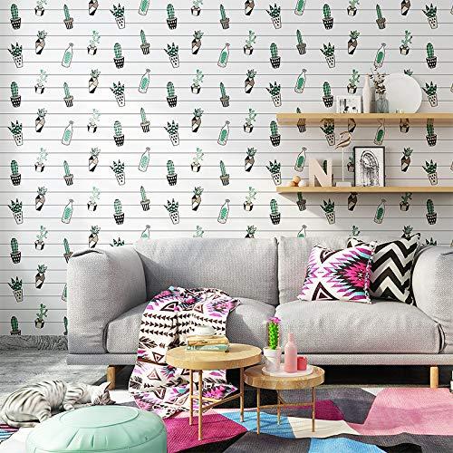 lsaiyy Nordic Gitter grünpflanze Selbstklebende tapete Student schlafsaal Schlafzimmer renovierung dekorative wasserdichte Aufkleber möbel renovierung wallpaper-60CMX5M -