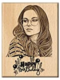 #8: Engraveindia Wooden Happy Birthday Unique Personalized Gift (5 X 4 inch)