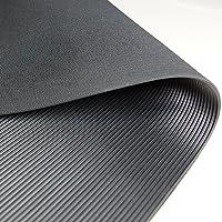 Feinriefenmatte | 1m²: 1,0 x 1,0m [Größe + Farbe wählbar] Stärke: 3mm | Farbe: Schwarz