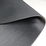 Feinriefenmatte | 3m²: 1,0 x 3,0m [Größe + Farbe wählbar] Stärke: 3mm | Farbe: Schwarz