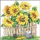 Ambiente Servietten Lunch / Party / ca. 33x33cm Garden Of Sunflowers - Sonnenblumen - Ideal Als Geschenk