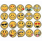 (20Stück) sortiert Emoji-Face Expression Patches Iron On Patches bestickt Aufnäher Motiv für Heimwerker Verzierungen