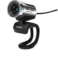 AUSDOM AW615 Webcam 1080P HD Kamera mit Noise Cancelling-Mikrofon für Skype, USB-Webkamera für Live-Streaming und…