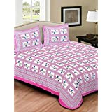 JAIPUR PRINTS Rajasthani Printed Bedsheet for Double Bed Cotton Bedsheets,Multi-coloured