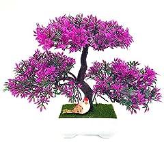 Idea Regalo - ZTTLOL decorazione di cerimonia nuziale ghirlande di fiori fai da te fiore artificiale trigemino in vaso bonsai pianta fiore finto pino alberi, rosa rossa