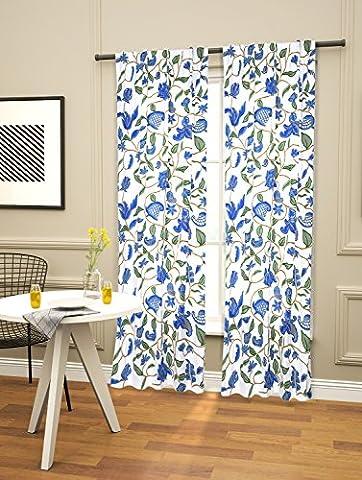(cc-02) SD Stoffe® Handgefertigte Luxus-Stickwolle Hand Designer Vorhang, bestickt 100% reine Baumwolle Stoff mit Wolle Jacobean Hand Stickerei für Modern Living & Decor