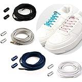 Cordones Elásticos Sin Nudo con Hebilla Metal | Cordones Elásticos Zapatillas Silicona/Cordones Elásticos de Goma con Botón d
