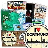 I love Dortmund | Pflege Box | Geschenkbox | I love Dortmund | Pflegepaket | Geschenk Mutter Dortmund | mit Florena Creme, Elka Dent, Badusan und mehr