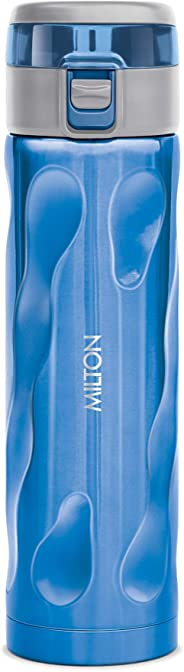 Milton Stylish-500 Thermosteel Water Bottle, 500 ml, Blue