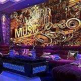 Weaeo Música Sonido Fresco Mural Personalizado Carnaval Ktv Papel Tapiz Papel Tapiz Karaoke Ktv Tapiz Pintura Mural 3D-200X140Cm