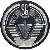 'Stargate SG-1Team schwarz Bordüre bestickt abzeichen Patch Aufnäher oder zum Aufbügeln 10cm