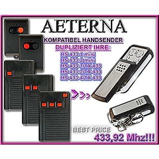 AETERNA HS433-1mini / HS433-2mini / HS433-1, TX433 / HS433-2, TX433 / HS433-4, TX433 kompatibel handsender, klone fernbedienung, 4-kanal 433,92Mhz fixed code. Top Qualität Kopiergerät!!!