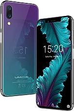 "Flaggschiff UMIDIGI One, Android 8.1 Globale Version Dual 4G Smartphone ohne Vertrag 5.9"" 19:9 Full Screen Notch-Display, 4GB + 32GB(256GB erweiterbar), Helio P23, Triple Kameras(16MP+12MP+5MP), 3550mAh Akku, 10W Quick Charge, Quad-Core, 2.0Hz, Dual-Mikrofon, Seitlicher Fingerabdrucksensor-Twilight"