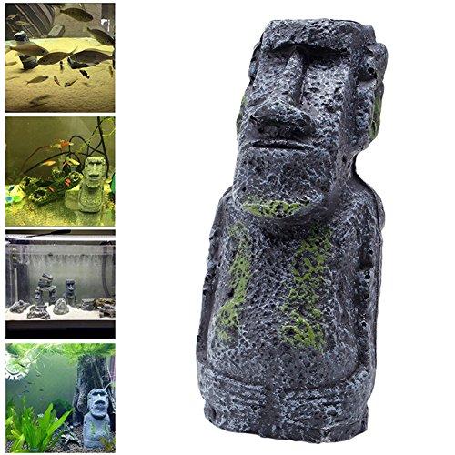 dairyshop Statue Osterinsel Mini Zubehör Rohr Fisch Tank Aquarium Dekoration Ornament Kleine Reifen Rohre