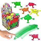 German Trendseller 12 x saute grenouille┃mélange de couleurs┃ frog hopper┃jeu de saut┃idée cadeau┃ petit cadeau┃ l'anniversaire d'enfant