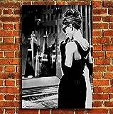 Box Prints Audrey Hepburn Frühstück Bei Tiffany Film Leinwand Wand Kunstdruck Bild groß Klein