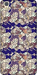 The Racoon Grip printed designer hard back mobile phone case cover for Oppo F1 Plus. (Violet Abs)