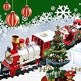 Factorys Set di treni modello a batteria - Set di treni di Natale - Set di treni ferroviari classici elettronici con luci e suoni, perfetti per bambini, ragazzi e ragazze