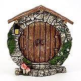 Top Collection Miniatur-Tür, runde Tür für Terrarium oder Märchen-Garten, 13,3 cm