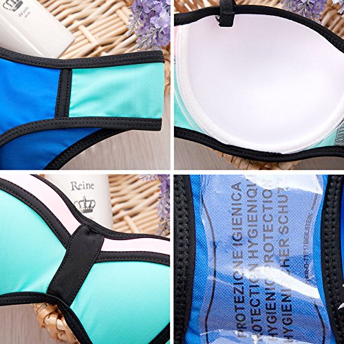 Surker Fashion Triangle Bikinis Bademode Frauen-Bikini-Badeanzug Push-Up- Qualit?