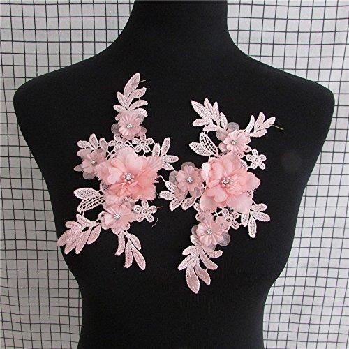 GTFHUH Dekoration Kleid Muster Stickerei Ausschnitt Dekoration Prozess Applique Venise Lace Kragen Nähen Stoff Kostüm Fine Floral