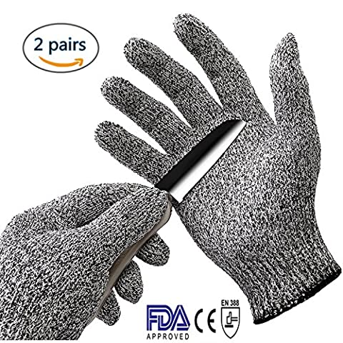 Sohv Cut Resistant Gloves - High Performance Level 5 Protection, Food Grade, EN388 Certified, Safty Gloves for Hand Protection and Yard-work, Kitchen,2