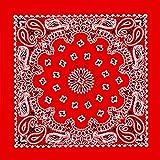 Bandana tessuto foulard Western Rosso Design Vintage