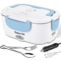 Stone TH Lunch Box Chauffante Electrique, 2 en 1 Double Tensions Boite Chauffante Repas Inox, Gamelle Chauffante…