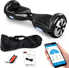Balance Scooter 6,5 Zoll 600W-Motion V.5 mit App Funktion, Bluetooth Lautsprecher, Kinder Sicherheitsmodus, Elektro Self Balance E-Scooter, 600 Watt