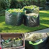 Probache - Set de 3 sacs de jardin carrés grande capacité, avec poignées