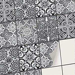 creatisto Fliesenaufkleber Fliesenfolie Mosaikfliesen - Hochwertige Aufkleber Sticker für Fliesen I Klebefliesen Deko Folie für Fliesen in Küche u. Bad/Badezimmer (15x20 cm I 48 -Teilig)