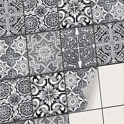 creatisto Mosaik-Fliesen Fliesenaufkleber Fliesenfolie - Aufkleber Folie für Fliesen | Klebefliesen Deko Folien für Fliesen in Küche u. Bad/Badezimmer (15x20 cm | 6 -Teilig)