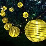 Tobbiheim Laterne Lichterkette 20 LED 6 Meter mit Solar &