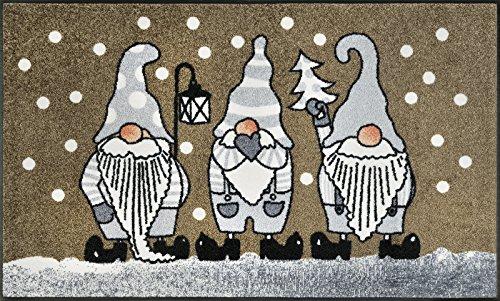 Schmutzfangmatte Winterzwerge taupe 75 x 120 cm