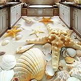 Rureng 3D Bodenfliesen Wandbild Tapete Moderne Strand Shell Foto Wandmalerei Aufkleber Badezimmer Wohnzimmer Pvc Wasserdichte Wear 3D Fresko