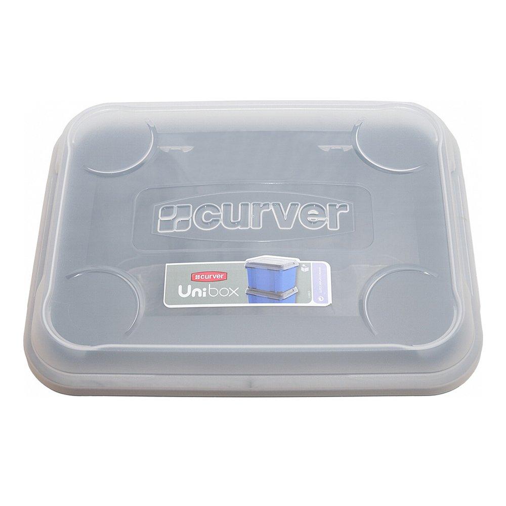 Curver 183066 Lid for Unibox Plus 15 l Transparent: Amazon.co.uk: Kitchen & Home