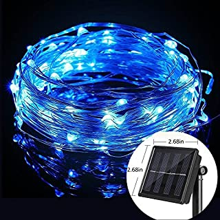 jiguoor 10M 100 LED Solar Powered Copper Wire Ambiance String Fairy Light String Light for Gardens, Homes, Room, Wedding, Christmas Party,Festival Decoration,Indoor, Outdoor