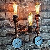 Applique candelabro Lampade da parete a forma di lampadario da bar per lampade industriali
