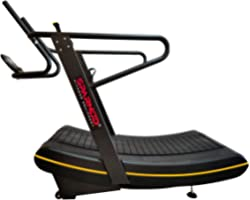 Sparnod Fitness STC-4750 Curved Treadmill - Non-Electric Motorized Treadmill for Commercial & Home Running Machine with Custo