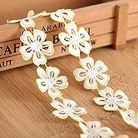15Patio algodón flores tela bordada Applique costura Craft cinta tira de encaje 3cm