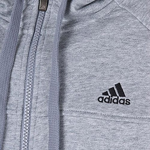 adidas Herren Kapuzenjacke Essentials 3-Stripes Light Fullzip grau - Grey / Black