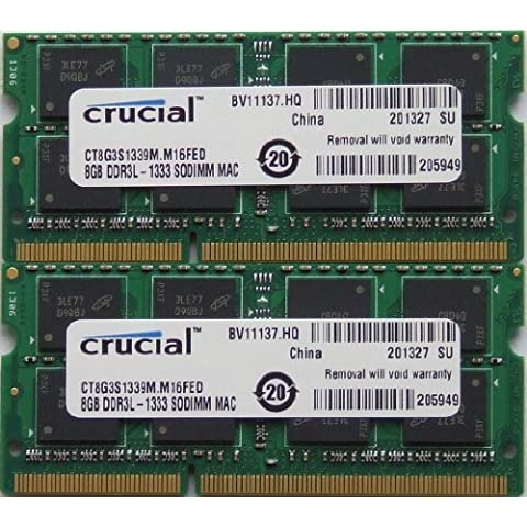 Ram memory upgrades 16GB kit (8GBx2) DDR3 PC3 10600 1333Mhz for latest 2011 Apple iMac's , Macbook Pro's and Mac