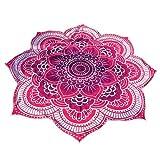 soundsbeauty indischen Hippie-Beach Werfen, Mandala rund Roundie (Yogo Matte, Tapisserie Boho Gypsy Strandtuch Flower + Multicolor