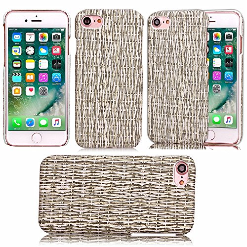 iPhone Case Cover Die Rattan-Muster-Fall-harte Abdeckung zurück Abdeckung für Apple IPhone 7 ( Color : Gray , Size : IPhone 7 ) Gray
