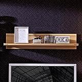 Stella Trading Buche Geölt Kernbuche Massiv Wohnzimmer Wandregal Regal Wandboard, Holz, Braun, 25 x 115 x 25 cm