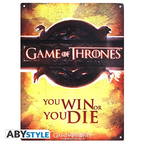GAME OF THRONES – Metal Plate 28 X 38 – Opening Logo : P.Derive