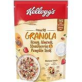 Kellogg's Crunchy Granola Honey, Almonds, Strawberries & Pumpkin Seeds,Breakfast Cereals , Multigrain Flakes, 450g