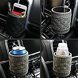 Auto Car Air Vent Outlet Boîte de rangement Sac Boisson support pour téléphone portable offrant Pouch Mini Cuir synthétique